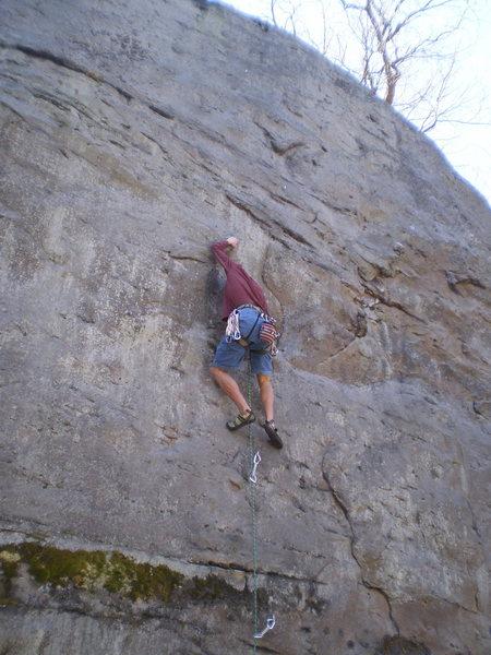 Rock Climbing Photo: Nick at the half-way crux.