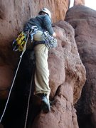 Rock Climbing Photo: Tristan Hechtel leading Sand in my Pants