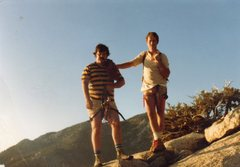 Rock Climbing Photo: Don Thompson  and Paul Richardson standing on top ...