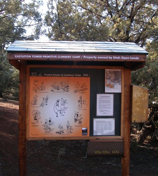"The ""campgropund"" also sports a new sign which gives the regulations on camping, wag-bags, etc."