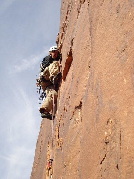 Rock Climbing Photo: Tristan enjoying the crack