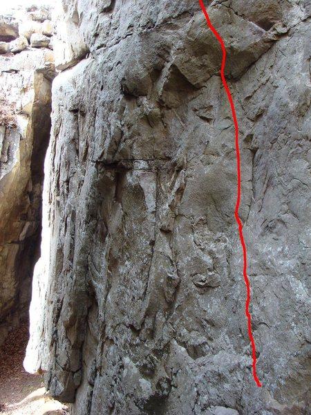 Rock Climbing Photo: First bolt of barking spiders