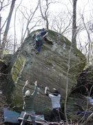 Rock Climbing Photo: Nic at the top.