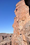Rock Climbing Photo: High on the route on a gorgeous spring day. March ...