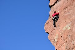 Rock Climbing Photo: A tricky upper crux with some amazing, airy positi...
