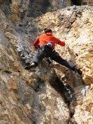 Rock Climbing Photo: Matt on Fissure at Tina Dalle