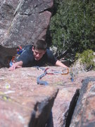 Rock Climbing Photo: the last pitch of the zot face