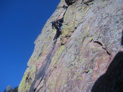 Rock Climbing Photo: looking for good pro