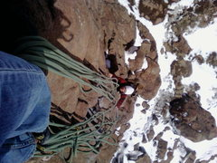 Rock Climbing Photo: top belay table mnt