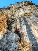 Rock Climbing Photo: Matt powers up Annidalle