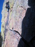 Rock Climbing Photo: pulling the cruxs moves of zot face