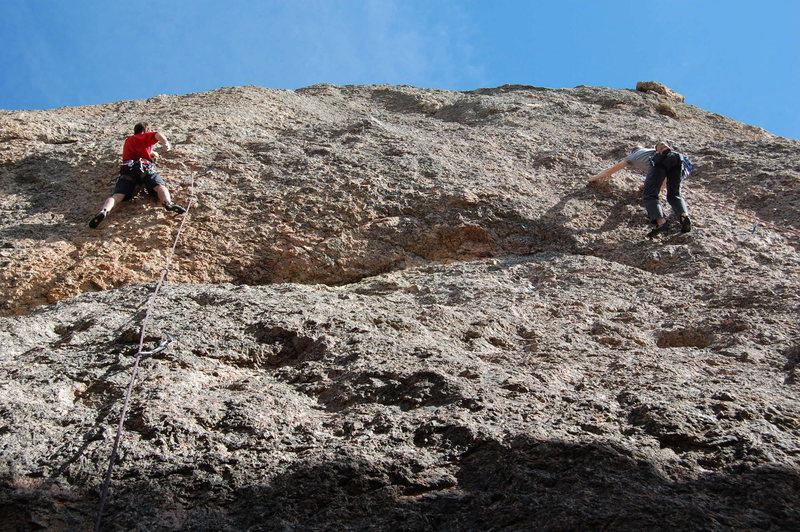 "Rock Climbing Photo: Climbers on ""Like the Good Ole Days (L) and &..."