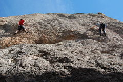 """Rock Climbing Photo: Climbers on """"Like the Good Ole Days (L) and &..."""