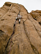 Rock Climbing Photo: Joel on Bone Crusher, 5.12+.