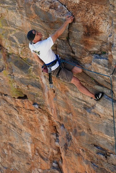 Climbing IS resting. Photo by Brian Kristofitz