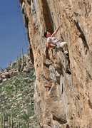Rock Climbing Photo: Josie Becker testing newly reinforced holds on Sto...