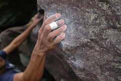 Rock Climbing Photo: Stuck...