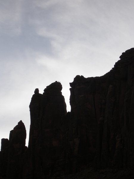 Rock Climbing Photo: Two people on summit of King of Pain