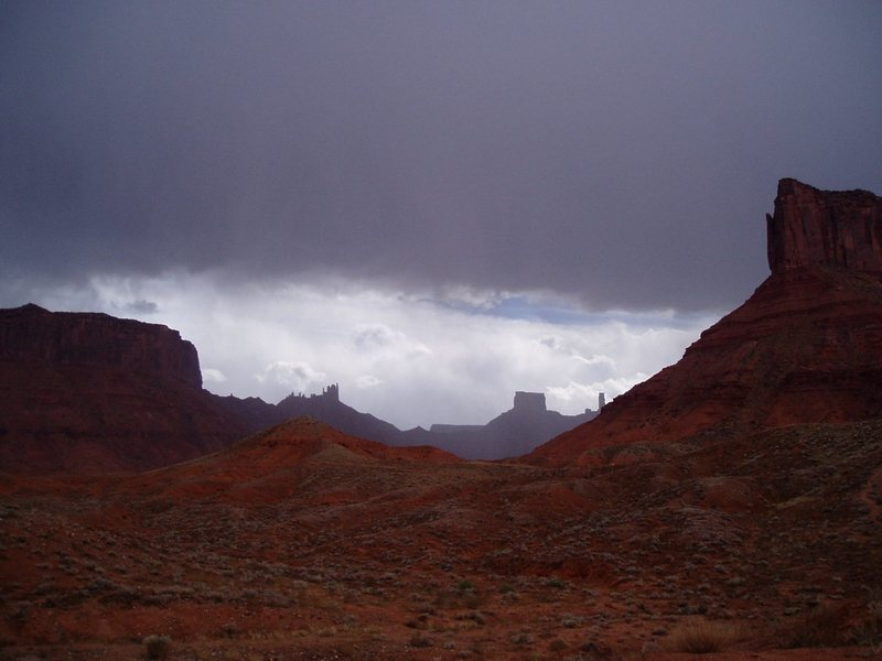Castle Valley and approaching storm