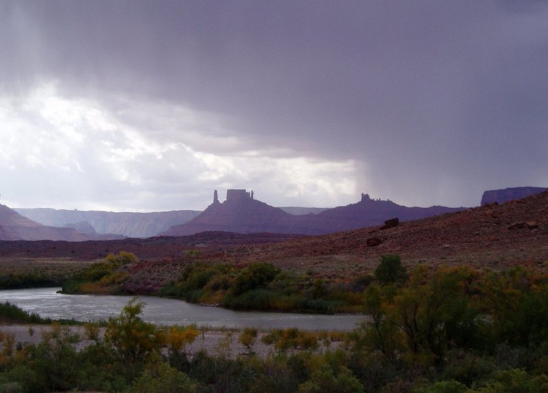 Castle Valley with an approaching storm
