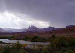 Rock Climbing Photo: Castle Valley with an approaching storm
