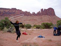Rock Climbing Photo: Slackline, with Bridger Jack Mesa