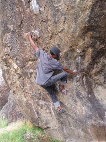 Rock Climbing Photo: Left hand hold is probably the most painful hold I...