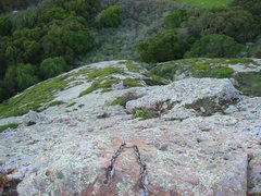 Rock Climbing Photo: View from the anchor at the top of the climb. Phot...
