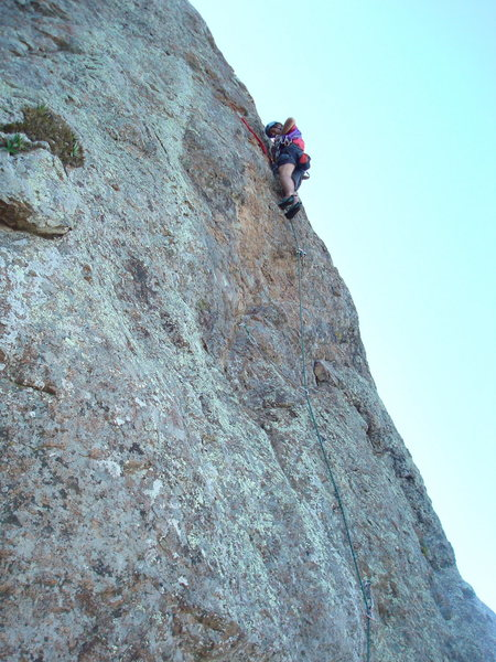 Floyd Hayes leading Swallow 5.7. Photo by Cheri Ermshar.