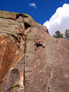 Rock Climbing Photo: Near the top of Jewel of the Mild.