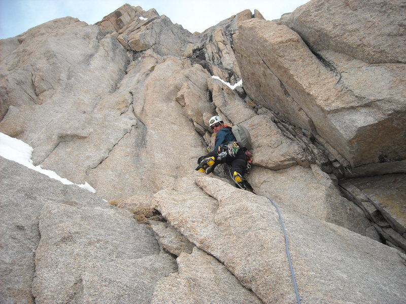 First pitch of Right Gully.