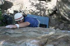 Rock Climbing Photo: Albert in the Canyon Boulders.     3-20-10
