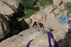 Rock Climbing Photo: Albert on Right Edge 5.5 Mozart's Wall.     3-20-1...