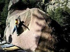 Rock Climbing Photo: Lip move.