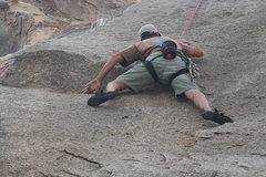 Rock Climbing Photo: Nathan on the Varnished Wall right of With Malice ...