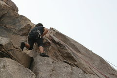 Rock Climbing Photo: Roger on With Malice And Forethought, Varnished Wa...