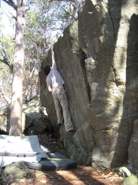 Rock Climbing Photo: Brooks hittin the lip