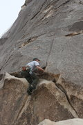 Rock Climbing Photo: Me top rope variation on the Varnished Wall.  3-21...