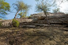 Rock Climbing Photo: Sk8tboarding is in the center of the pic between t...