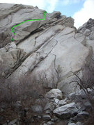 Rock Climbing Photo: Alternate finish to King Lizard.  Use long to extr...