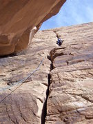 Rock Climbing Photo: what is the name of this route? its up and left fr...