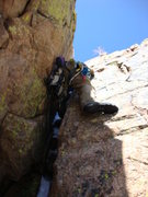 Rock Climbing Photo: Off-width on the 3rd pitch
