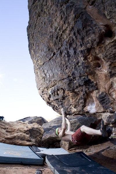 Rock Climbing Photo: Tyler on Underwhelmed V6