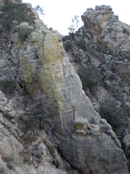 Rock Climbing Photo: photo of dragon wall from oppisite side