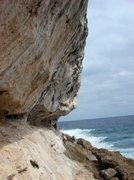 Rock Climbing Photo: Approach to Wave Wall during low seas and low tide...