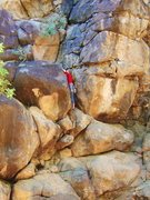 Rock Climbing Photo: Audrey on Turnstyles