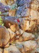 Rock Climbing Photo: Audrey on Turnstyles
