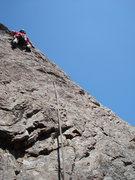 Rock Climbing Photo: Floyd Hayes leading THC. Photo by Cheri Ermshar.