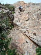 Rock Climbing Photo: Floyd Hayes leading Garden Party. Photo by Cheri E...