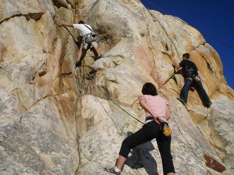 Rock Climbing Photo: Phil Ermshar leading Crespi Critter and Brett Haye...